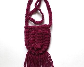 Crochet toddler purse. Crochet toddler bag. Bitty boho bag. Toddler bag. Toddler accessory. Fringe bag. Toddler purse. Toddler fashion.
