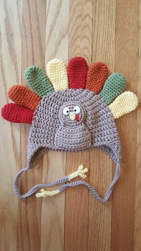 Crochet Turkey Hat Turkey Hat baby turkey hat baby hat  9bb6a9ce25d