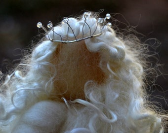 Winter Queen Ice Queen Waldorf Inspired needle felted