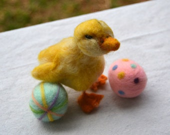 Needle Felted Animal-Duckling