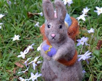 Felted bunny Needle Felted Easter Bunny Rabbit