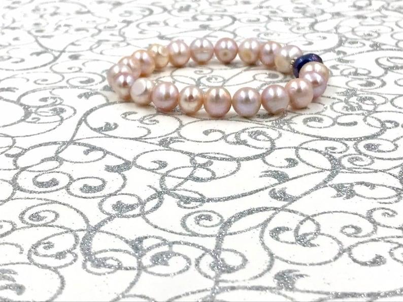 Pink Baroque Pearl Bracelet,pink lavender freshwater pearl bracelet,pink baroque freshwater pearl bracelet,bridal jewelry,freshwater pearls