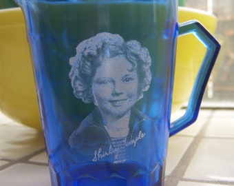 REPRODUCTION Shirley Temple Milk Pitcher