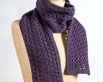 Lace Pattern Scarf Ready to Ship