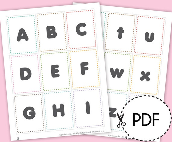 Inventive image intended for abc flash cards printable