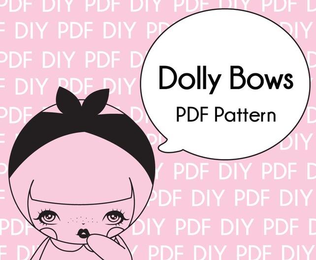 Dolly Schleife DIY Muster-Druck-PDF Download   Etsy