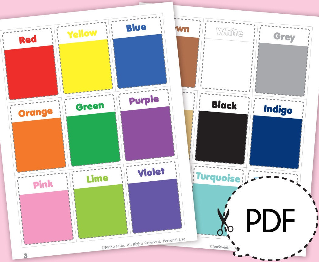 photo about Colors Flashcards Printable known as Coloration and Form Flash Playing cards-Printable PDF Down load