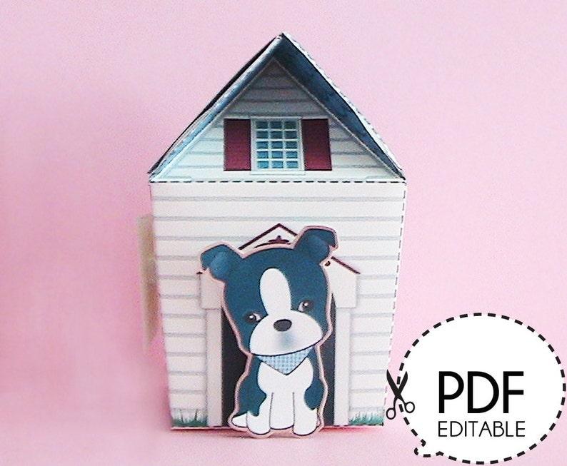Bostonie Dog House Gift Box – Printable PDF Download