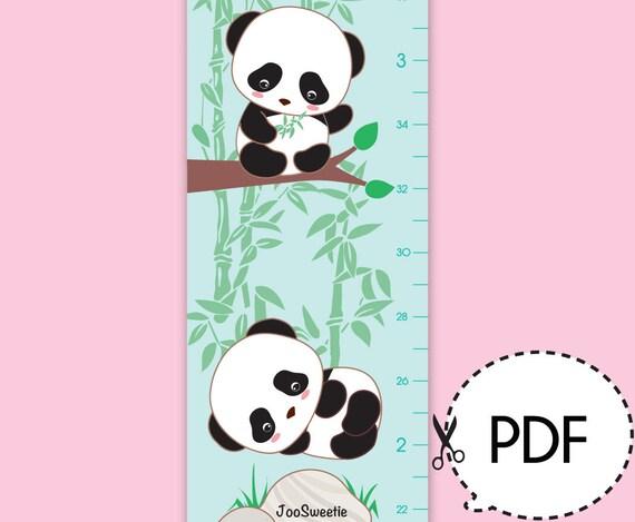 Panda Wachstum Diagramm-Druck-PDF Download   Etsy