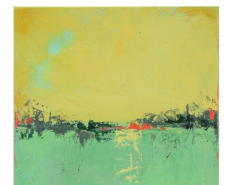 Abstract Acrylic Painting Minimalist Landscape Made to Order