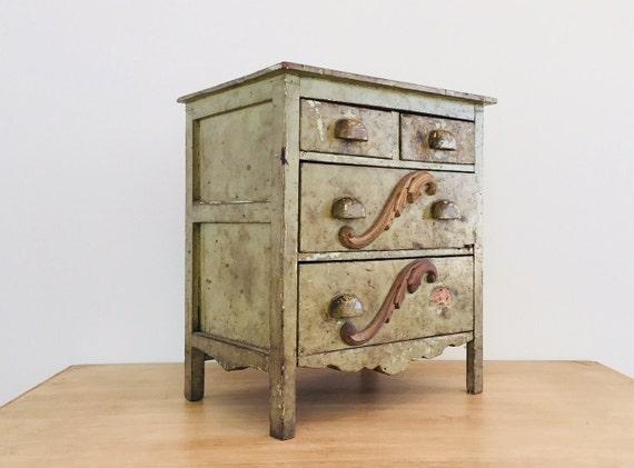 Vintage Four Drawer Dresser Salesman Sample Doll F