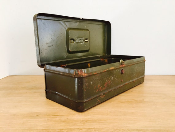 Vintage Industrial Metal Army Green Storage Box By Climax | Etsy
