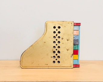 Vintage Tin Toy Piano by Tudor Metal Products Corp.