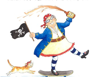 Old lady card etsy crazy old lady greeting card never too old for shenanigans m4hsunfo
