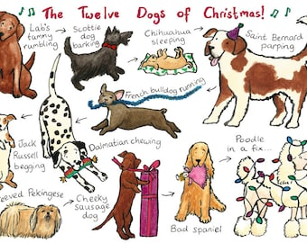 The Twelve Dogs of Christmas... A Christmas card for dog lovers!