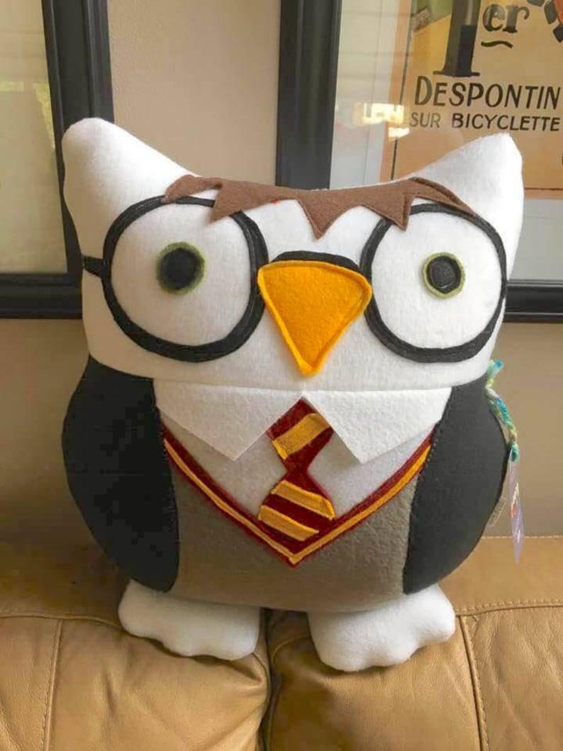 Boy wizard Boy wizard owl Owley Potter white owl inspired image 0
