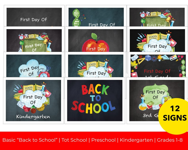 First Day of School  Back to School  Printable image 0