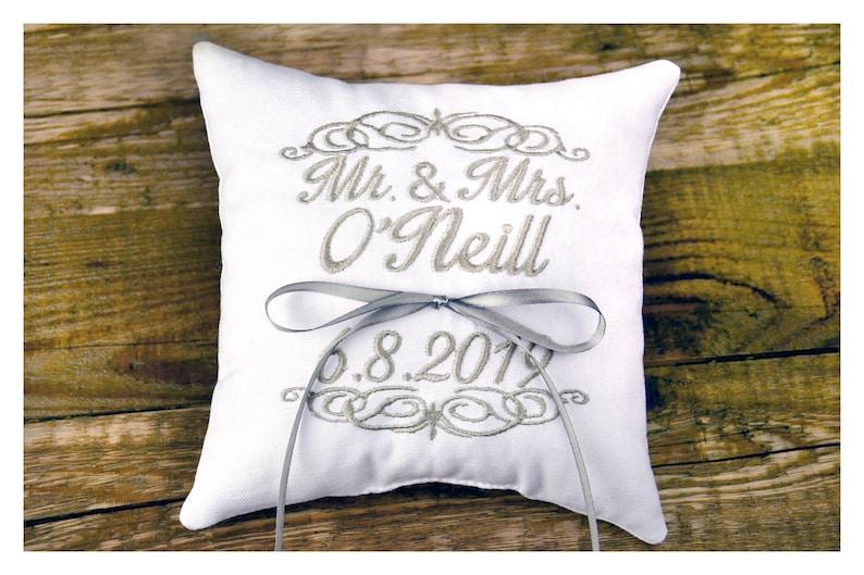 wedding pillow ring bearer pillow Personalized Ring bearer pillow Mr /& Mrs pillow Wedding ring pillow Ring bearer pillow ring holder