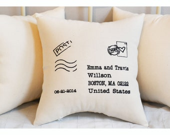Letter to newlyweds,  Wedding Gift Pillow , Anniversary pillow,  wedding  pillow,  embroidered gift pillow