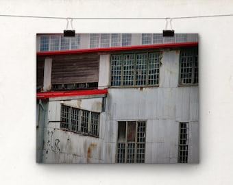 Ketchican Alaska Photography, Urban Decay, Alaska Art, Abandoned, Red
