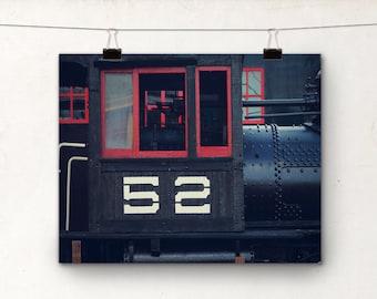 Train Photo, Alaska Photography, Skagway, White Pass Railway, Red