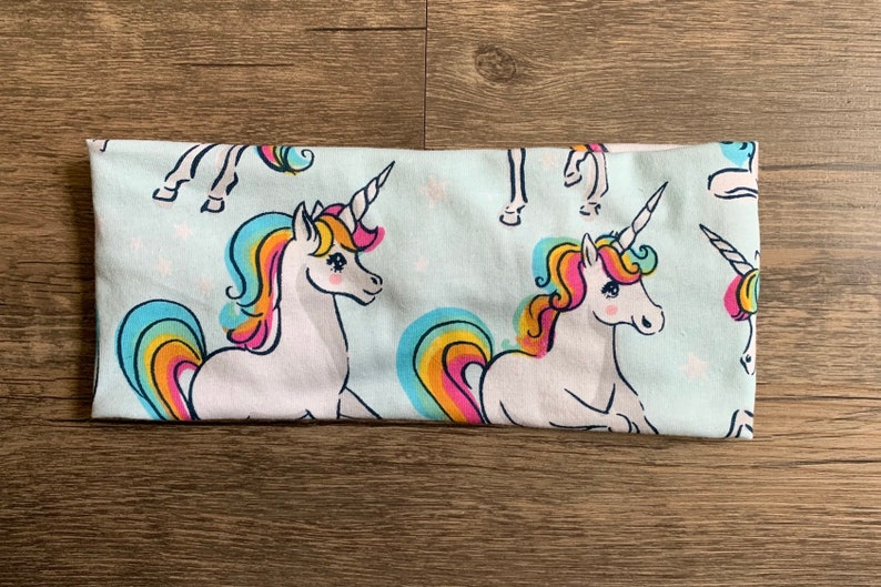Unicorn turban headband rainbow unicorn yoga headband unicorn party unicorn gift girl/'s unicorn hair accessory birthday gift for girl