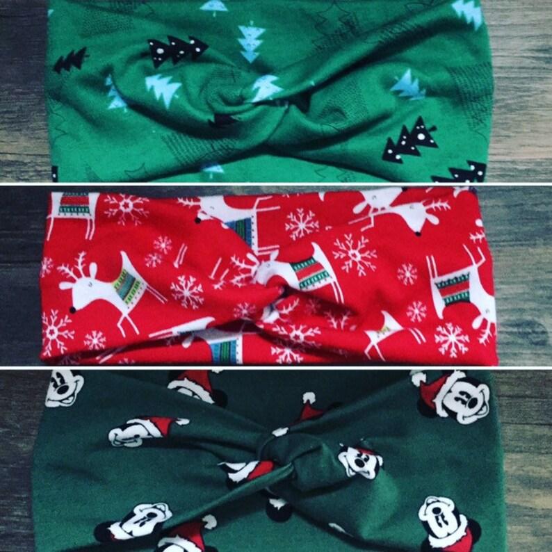 a626a67fe Christmas headbands holiday turban headbands christmas gift | Etsy