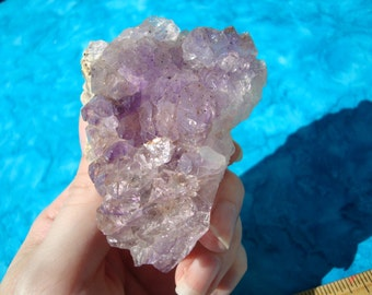 Elestial Tibetan Amethyst Crystal - Tune into Higher Self, Guidance, Protection, Third Eye