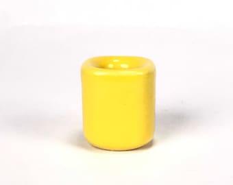 Yellow Ritual Candle Holder, Mini Ceramic Chime Candle Holder, Ritual Candles, Spells, Wicca, Wiccan, Altar