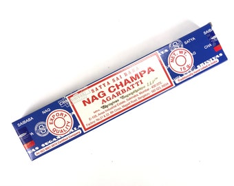 Nag Champa Incense Sticks, 15g Box, Approximately 15 sticks, Spells, Charms, Rituals, Magic, Magick, Wicca, Wiccan, Altar