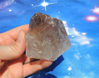 Smoky Quartz Crystal Point with Rutlie - Transmute Negative Energy, Grounding, Eliminate Spaciness (Brazil)