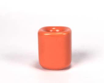 Orange Ritual Candle Holder, Mini Ceramic Chime Candle Holder, Ritual Candles, Spells, Wicca, Wiccan, Altar