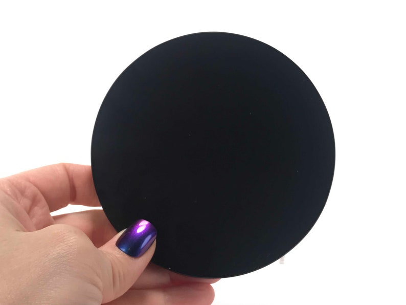 Black Obsidian 4 Scrying Mirror with stand  Protect image 0