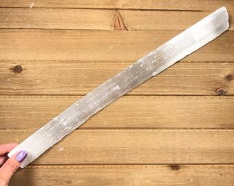 Selenite Crystal, Selenite Log, Large Selenite, White Light Energy, 3rd Eye & Crown Opener, Increase Awareness, Charge Crystals
