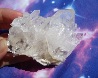 Faden Quartz with Calcite Crystal - Activate & Strengthen Healing Abilities, Focus Intention, High Vibration, Highly Programmable (Pakistan)