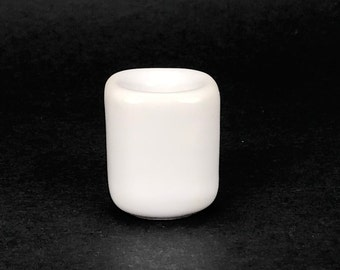 White Chime Candle Holder, Mini Ceramic Candle Holder, Ritual Candles, Spells, Wicca, Wiccan, Altar
