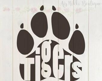 Tiger paw svg | Etsy