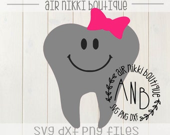 Girl tooth fairy SVG, PNG, DXF files, instant download