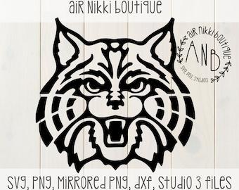 Wildcat, Bobcat SVG, PNG, studio 3, DXF files, instant download, cricut, silhouette cameo, design space, htv, vinyl