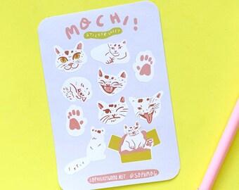 Mochi The Cat Sticker Sheet