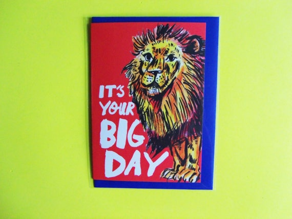 Your Big Day Lion A6 Greeting Birthday Card Celebration