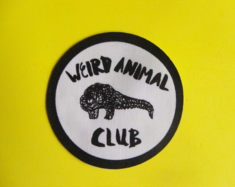 Weird Animal Club Screen Printed Sew On Patch