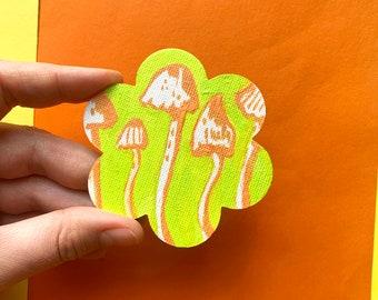 Mushroom Canvas Magnet