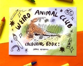 Weird Animal Club Colouring Book