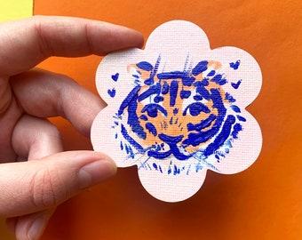 Tiger Mini Canvas Magnet
