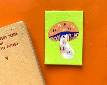 Mushroom Mini Canvas Painting