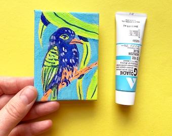 Tropical Bird Mini Canvas Painting