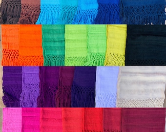 Rebozo Cotton Mexican Scarf All Natural Fiber-Baby Carier-Sifling for Childbirth-ColorfulLabor-Doula-Mexican-Wrap-Baby-Wedding-Fiesta