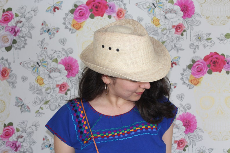 2c52c7f75ae03 Handmade Woven Palm Leaf Fedora Hat-Tassel-PompomBoho-Hippie-Organic-Up  cycled-Natural Fiber-Fiesta-Festival-Summer-Beach-Party Supply-Cap
