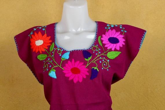 Cotton Woven Multicolor Mexican Huipil Blouse BOHO-Hippie-Frida Kahlo-Festival Fashion-Fiesta Birthday Gift Rebozo